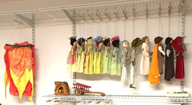 lineup of puppets